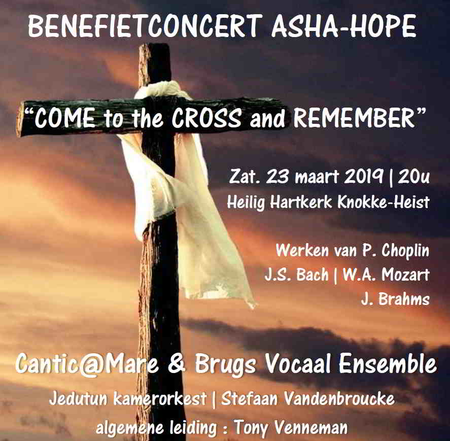 Benefiet-Passieconcert ' Come to the Cross & Remember'