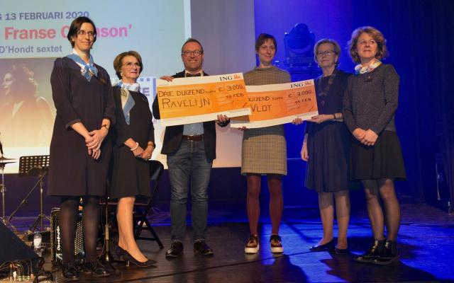 overhandiging cheque €3000